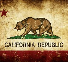 California Republic Flag Rustic  by NorCal