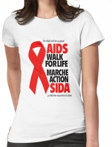 Aids Ribbon  Womens Fitted T-Shirt
