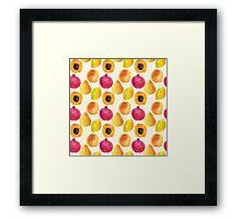 Watercolor fruits Framed Print
