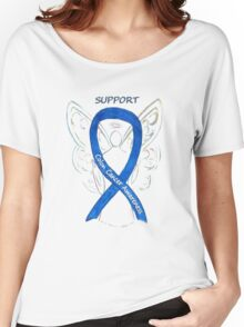 Colon Cancer Ribbon  Women's Relaxed Fit T-Shirt