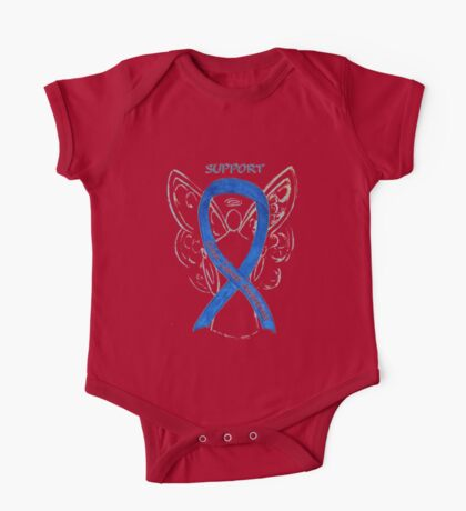 Colon Cancer Ribbon  One Piece - Short Sleeve