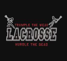 Lacrosse Trample The Weak Dark Kids Tee