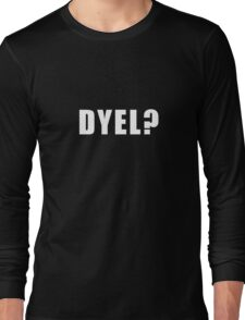 DYEL - White Long Sleeve T-Shirt