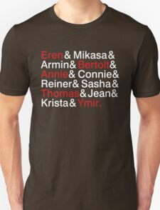 Attack On Titan Characters T-Shirt