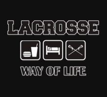 Eat Sleep Lacrosse Dark by SportsT-Shirts
