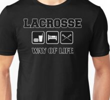 Eat Sleep Lacrosse Dark Unisex T-Shirt