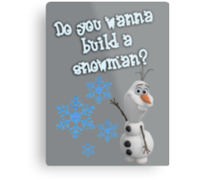 Frozen - Do You Wanna Build A Snowman? Metal Print
