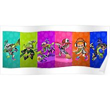Splatoon's Team Battle Poster