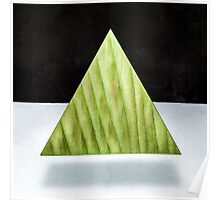 Green Triangle 2D Poster