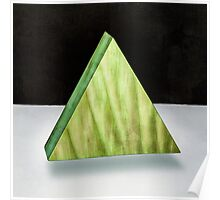 Green Triangle 3D Poster
