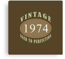 1974 Vintage Birthday Print Canvas Print