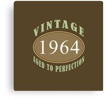 1964 Vintage Birthday Print Canvas Print