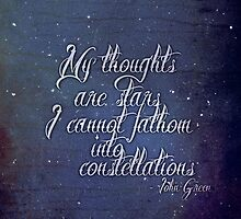 My Thoughts Are Stars I Can't Fathom Into Constellations by Charlotte Poe