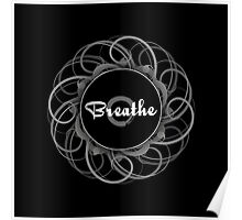 'Breathe' Zen Circle Print Poster