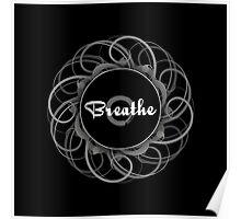 'Breathe' Zen Circle Print Poster