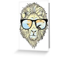 Lion in Paradise Greeting Card