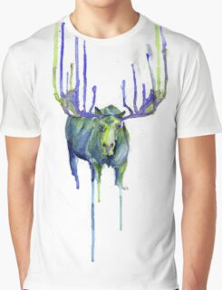 Moose Drip Trip Graphic T-Shirt