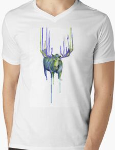 Moose Drip Trip Mens V-Neck T-Shirt