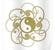 Gold Yin Yang Print Poster