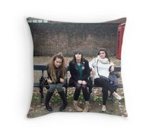 out of the subway waiting for a ride Throw Pillow
