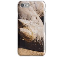 Sleeping Rhino Portrait iPhone Case/Skin