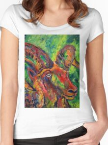 Doll Sheep Women's Fitted Scoop T-Shirt