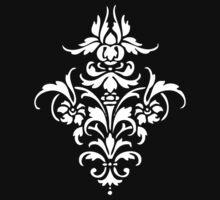 Damask Pattern | Black and White Baby Tee