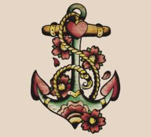 Traditional Anchor Tattoo Design by SmittyArt