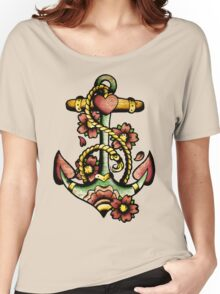 Traditional Anchor Tattoo Design Women's Relaxed Fit T-Shirt