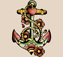 Traditional Anchor Tattoo Design Unisex T-Shirt