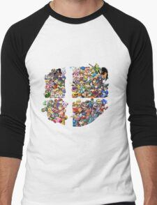 Super Smash Bros. WiiU and 3Ds + Ryu + Cloud Men's Baseball ¾ T-Shirt