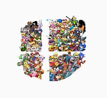 Super Smash Bros. WiiU and 3Ds + Ryu + Cloud Unisex T-Shirt