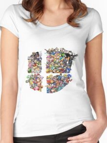 Super Smash Bros. 4 Ever + All DLC Women's Fitted Scoop T-Shirt