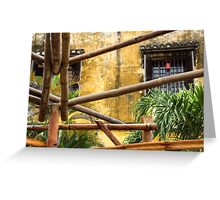 bamboo poles Greeting Card