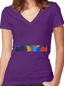 All the colours of the family Women's Fitted V-Neck T-Shirt