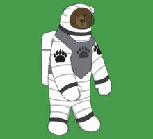 Astronaut bear  One Piece - Short Sleeve