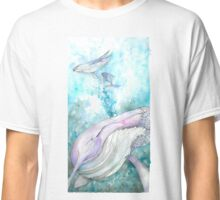 Watercolor Whales Classic T-Shirt