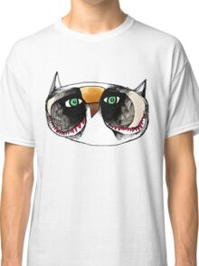 The Owl with Green Eyeballs Classic T-Shirt
