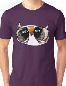 The Owl with Green Eyeballs Unisex T-Shirt