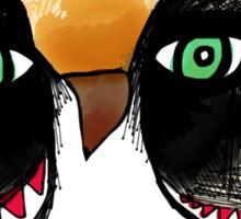 The Owl with Green Eyeballs Sticker