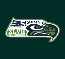 Seahawks Superbowl 2014 Champions by HeatherLouita