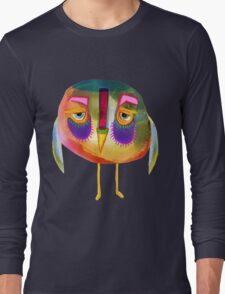The Owl Who Looks Unimpressed Long Sleeve T-Shirt