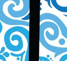Anchor Blue Swirl Sticker