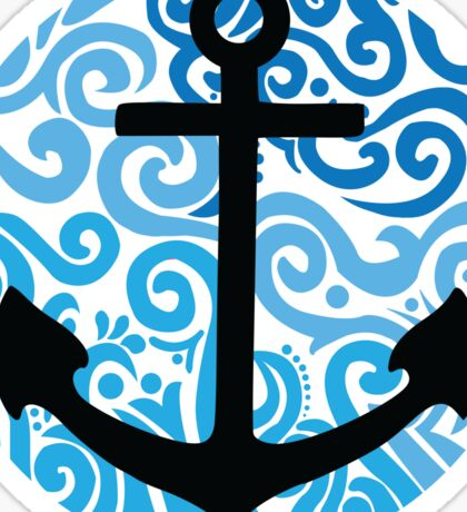 Anchor Blue Swirl Sticker
