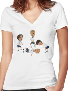 Dentist Chair Women's Fitted V-Neck T-Shirt