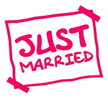 Just Married Notice by Style-O-Mat