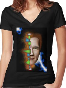 Gerschwanor V1 Women's Fitted V-Neck T-Shirt
