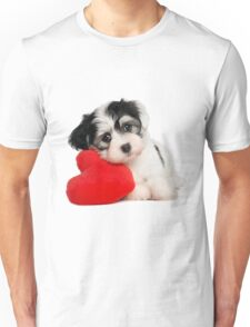 Cute dog and Heart-shaped Unisex T-Shirt