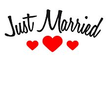 Just Married Hearts Logo Design by Style-O-Mat