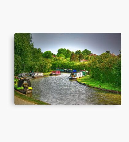 Boats At Marsworth Canvas Print